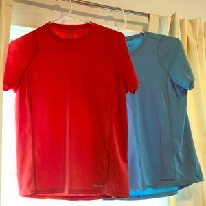 Two Patagonia Fittness Tops